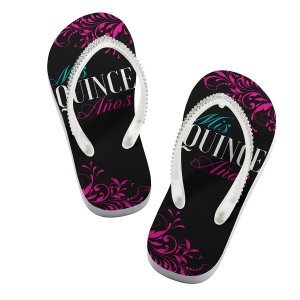 Quince Anos Flip Flops image