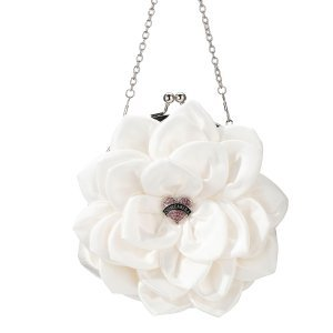 Creamy White Flower Quinceanera Purse image