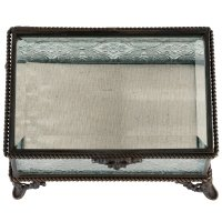Rustic Rectangular Glass Ring Box