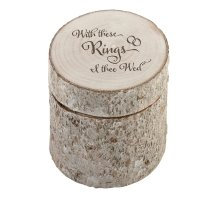With These Rings I Thee Wed Pine Ring Holder