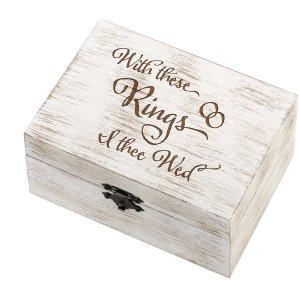 I Thee Wed Wedding Ring and Vow Box image