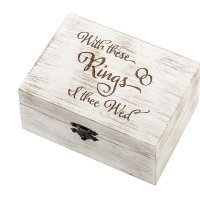 I Thee Wed Wedding Ring and Vow Box