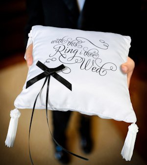 With This Ring I Thee Wed Ring Bearer Cushion image