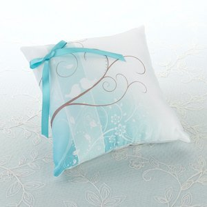 Love Birds Silhouette Ring Pillow image