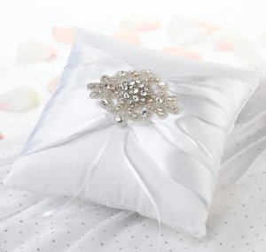 Jeweled Motif Ring Pillow image