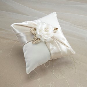 Taupe Rose Ring Pillow image