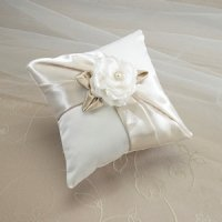 Taupe Rose Ring Pillow