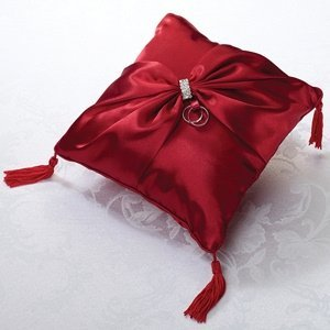 Red Sash Ring Bearer Pillow image