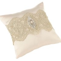 Vintage Gold Lace Ring Pillow