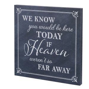 Here Today Canvas Wedding Sign image