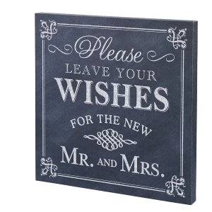 Leave Your Wishes Canvas Wedding Sign image