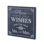 Leave Your Wishes Canvas Wedding Sign