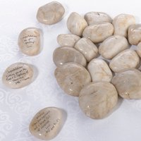 Natural Signing Stones (Wedding Guest Book Rocks)