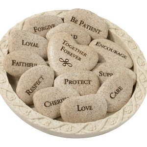 Vow Stones (Set of 13 Stones with Plate) image