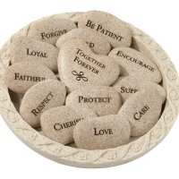 Vow Stones (Set of 13 Stones with Plate)