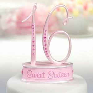 Sweet 16 Birthday Cake Topper image