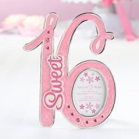Pink Sweet 16 Picture Frame