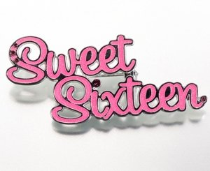 Pink Sweet 16 Pin image