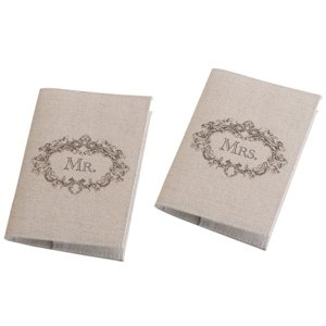 Tan Mr. & Mrs. Passport Covers image
