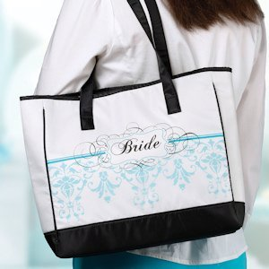 Bride Tote Bag - Aqua image
