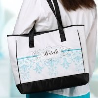 Bride Tote Bag - Aqua