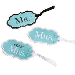 Mr Mrs & More Mrs Aqua Luggage Tags image
