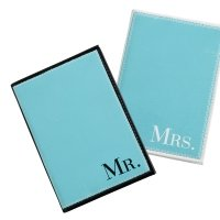 Mr & Mrs Aqua Passport Covers
