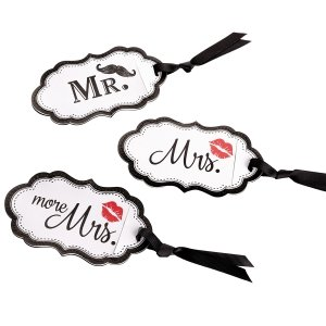 Mustache & Red Lips Luggage Tags image