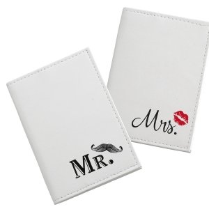 Mustache & Red Lips Passport Covers image