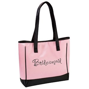 Pink Bridesmaid Tote Bag image
