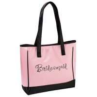 Pink Bridesmaid Tote Bag