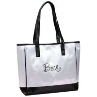 Bride's White Tote Bag