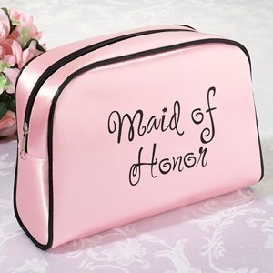 Pink Maid Of Honor Makeup Bag image