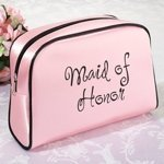 Pink Maid Of Honor Makeup Bag