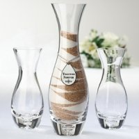 Hourglass Sand Ceremony Vase Set