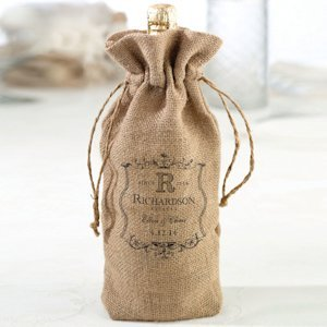 Burlap Wine Bag (4 Personalized Design Options) image