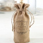 Burlap Wine Bag (4 Personalized Design Options)