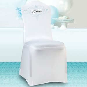 Bride Chair Cover - White image