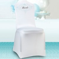 Bride Chair Cover - White