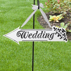 Wedding Arrow Sign image