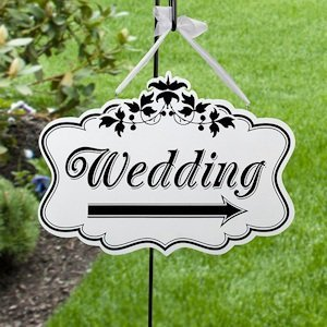 Large Wedding Arrow Sign image