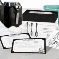 Bon Appetit Bridal Shower Recipe Card Box with Cards
