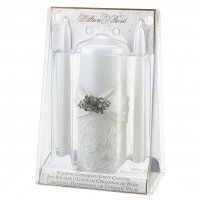 White Lace Packaged Candle Set