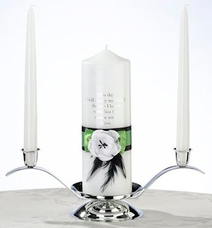 Green & Black Candle Set image