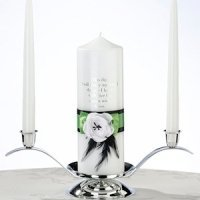Green & Black Candle Set