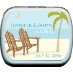 Filled Beach-Themed 'Mint To Be' Wedding Favor Tins thumbnail