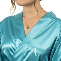 Personalized Satin Robe and Necklace Set (3 Colors)