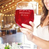 Custom Will You Be My Bridesmaid? XL Wine Glass (3 Designs)