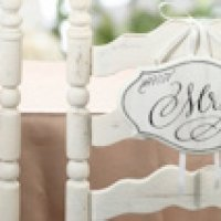 Vintage Style Mr. or Mrs. Chair Signs