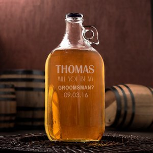 Personalized Will You Be My Groomsman/Best Man Growler image